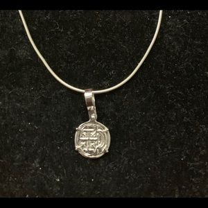 Jewelry - Baby Atocha silver coin with silver chain